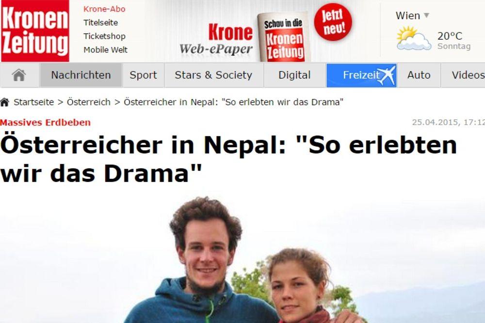 DRAMA AUSTRIJSKOG PARA U NEPALU: Troje dece nismo uspeli da izvučemo iz ruševina!