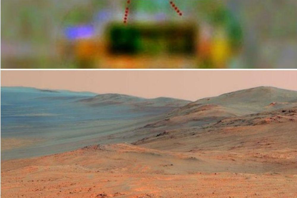 BLOGER TVRDI: Pronašao sam Marsovce koji vire iz kratera!