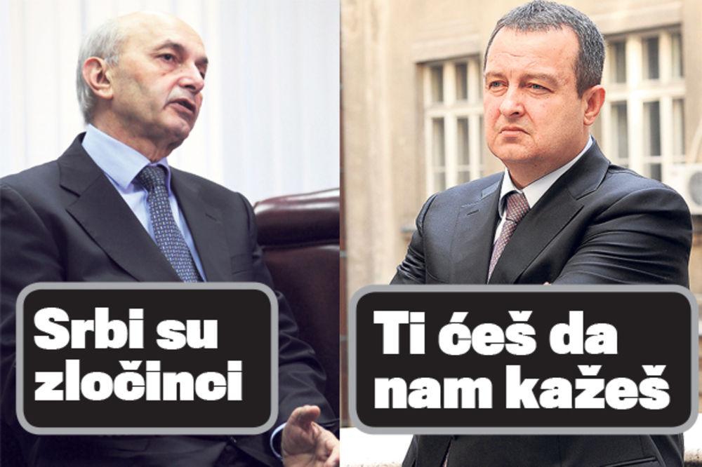 Mustafa: Srbi su zločinci  Dačić: Ti ćeš da nam kažeš