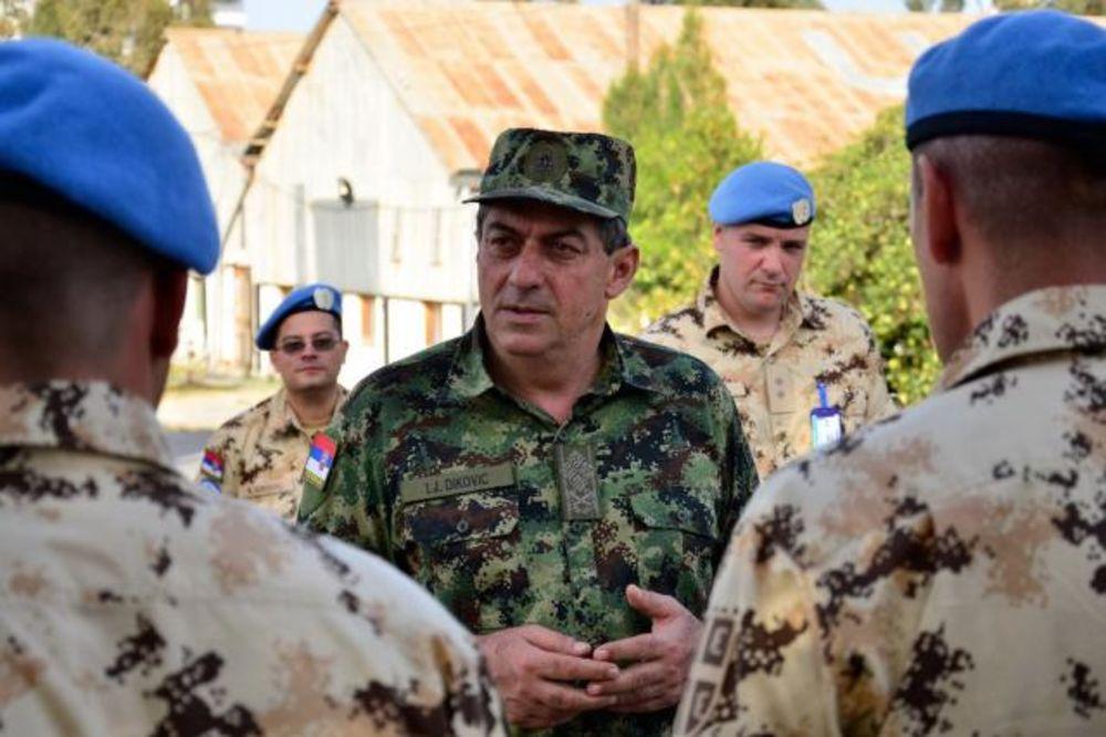 SRPSKI MIROTVORCI: Diković obišao naše plave šlemove na Kipru i u Libanu