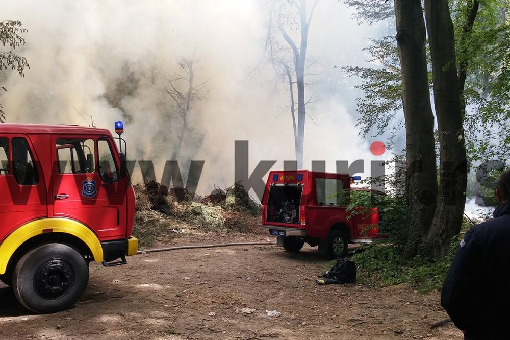 POŽAR NA AVALI: Vatrogasci zauzdali vatru, gorela divlja deponija