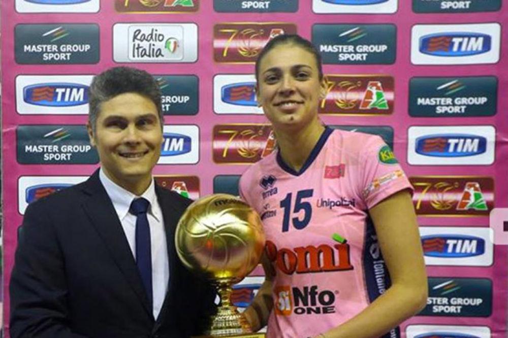 BRILJIRALA SA 14 POENA: Jovana Stevanović osvojila titulu prvaka Italije