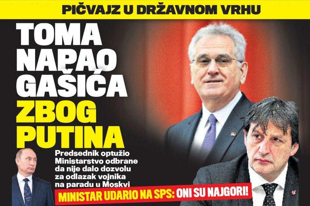DANAS U KURIRU OPŠTI RAT: Nikolić napao Gašića, a ministar vređao SPS!