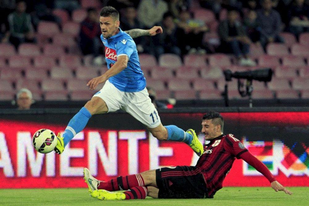 (VIDEO) BLICKRIG NAPOLIJA: Milan od 43. sekunde sa igračem manje, izdržao 70 minuta, a onda...