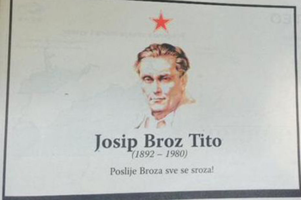 (FOTO) POSLE BROZA SVE SE SROZA: Crnogorci dižu Titu spomenik u Podgorici