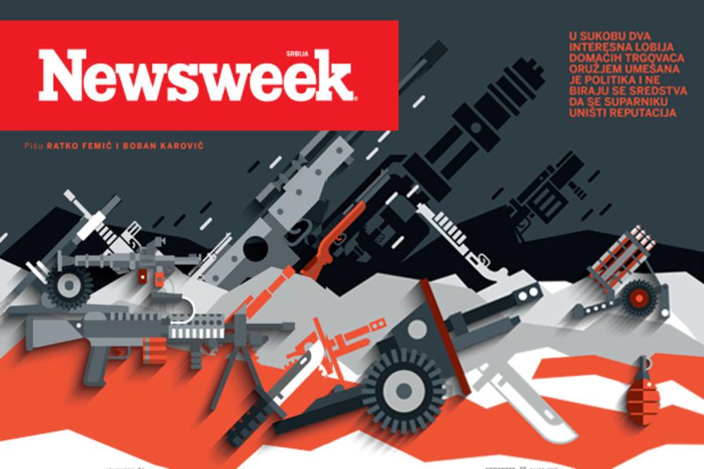 NOVI NEWSWEEK: RAT SRPSKIH GOSPODARA RATA Obračun lobija i politike u trgovini oružjem!