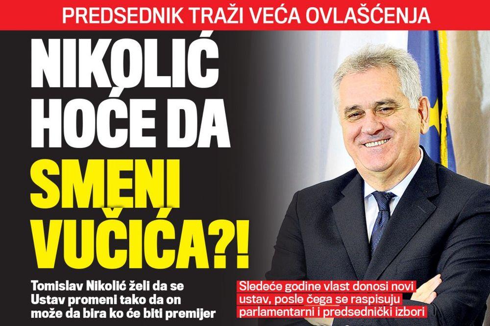 DANAS U KURIRU VELIKI APETITI: Nikolić hoće da smeni Vučića?!