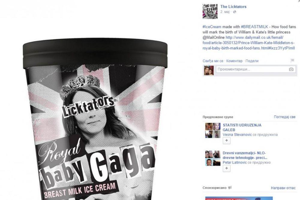 HIT U ČAST NOVE PRINCEZE: Kejt Midlton na pakovanju sladoleda od mleka dojilja