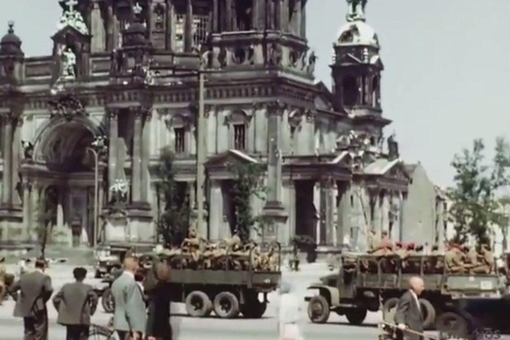 (VIDEO) DANI POBEDE: Pogledajte 70 godina skrivan snimak razorenog Berlina!