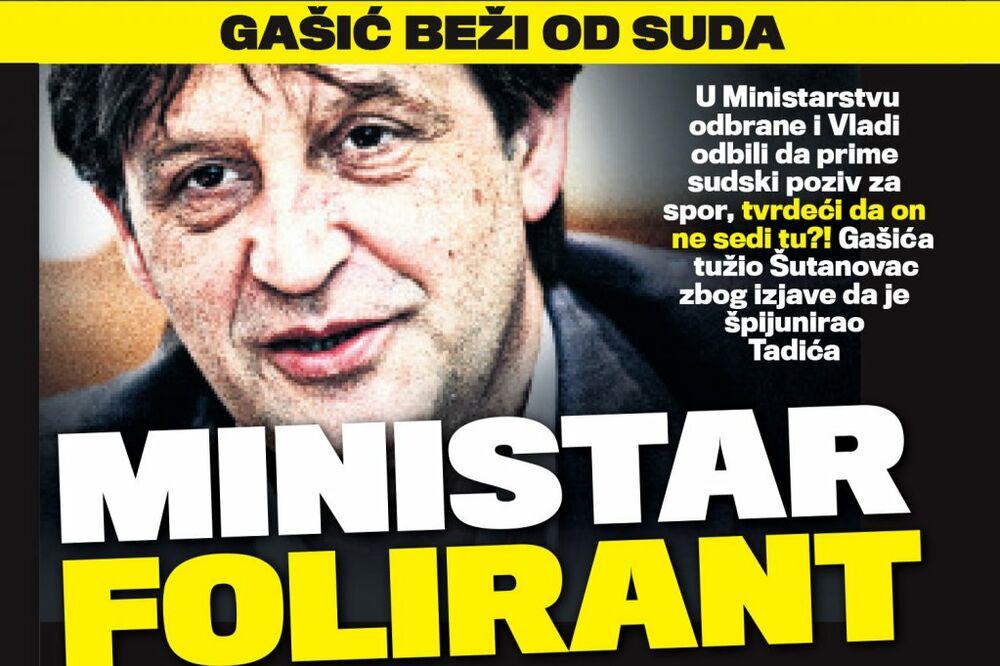 DANAS U KURIRU MINISTAR FOLIRANT: Bratislav Gašić beži od suda!