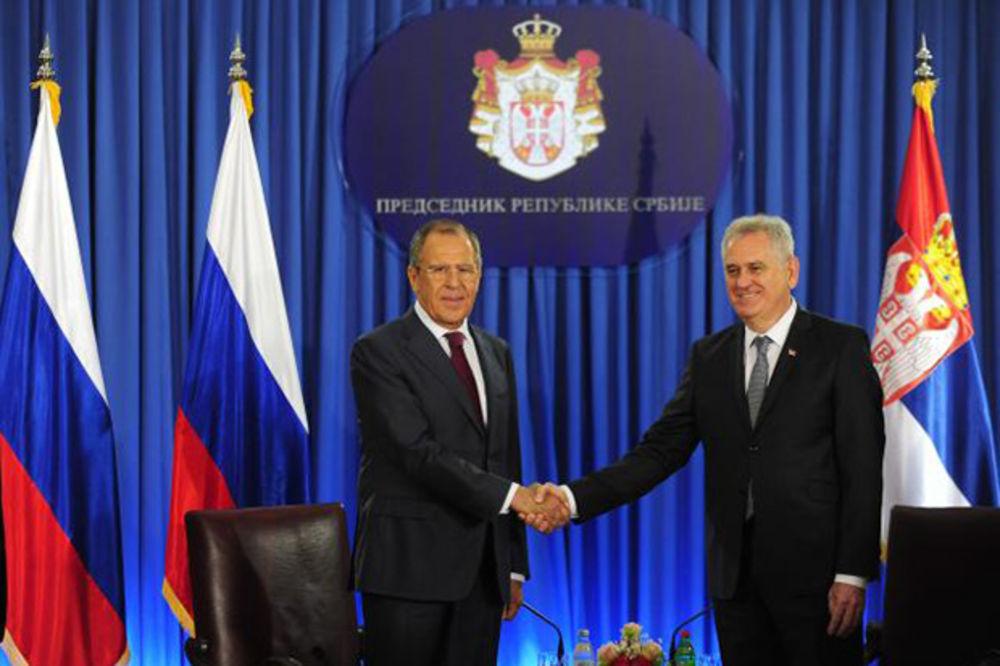 VIDEO LAVROV SA DAČIĆEM I NIKOLIĆEM: Pozdravite mi predsednika Putina!
