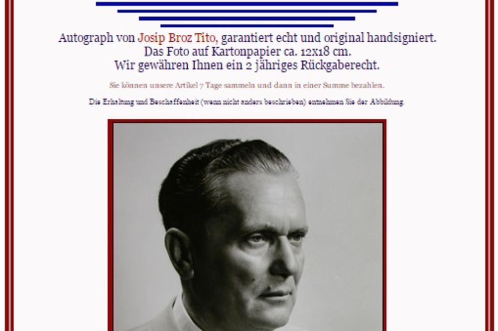 EVO KAKO MOŽETE DA ZARADITE: Titova slika sa autogramom prodaje se za 400 evra