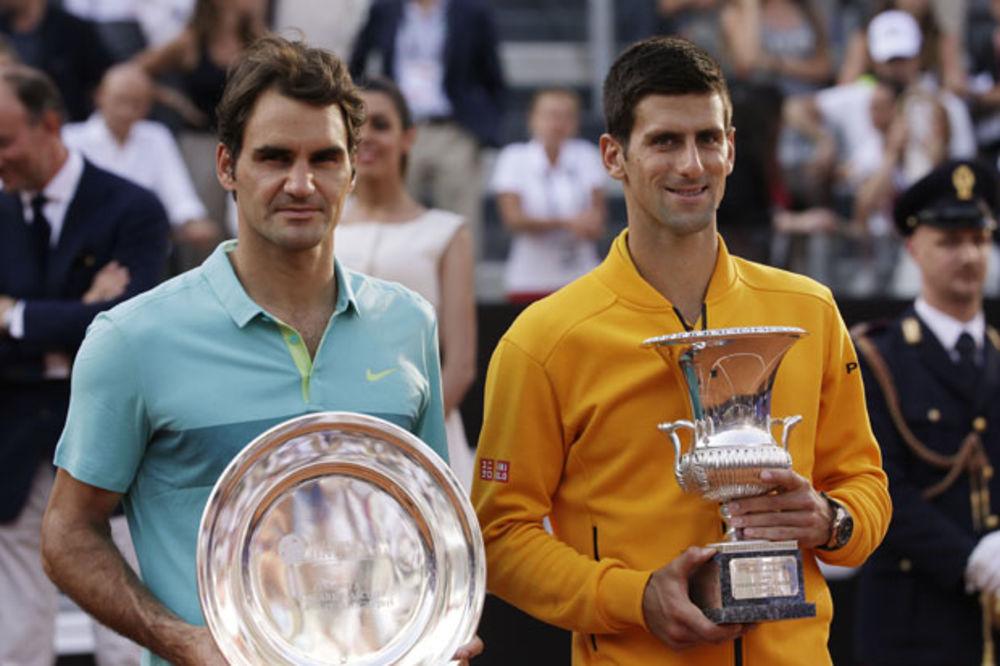 NOVAK POBEDIO, RODŽER SMANJIO PREDNOST: Đoković 4.610 bodova ispred Federera uoči Rolan Garosa