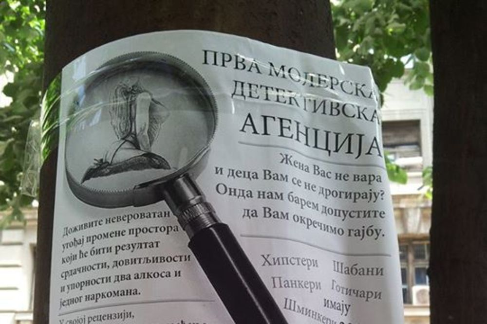 PRVA MOLERSKA DETEKTIVSKA AGENCIJA U SRBIJI: Popust samo za šabane, gotičare i šminkere!