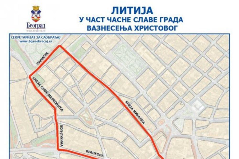 OVE ULICE ĆE BITI ZATVORENE NA SPASOVDAN: Beograd u četvrtak proslavlja slavu grada