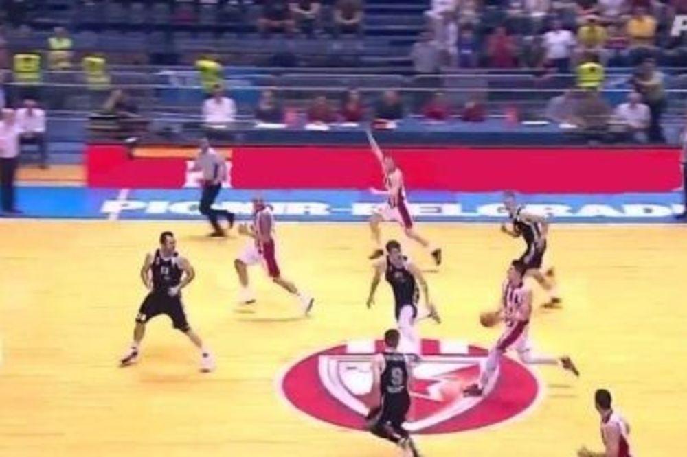 (VIDEO) DALEKOMETNA PALJBA: Pogledajte 5 trojki košarkaša Crvene zvezde sa više od pola terena