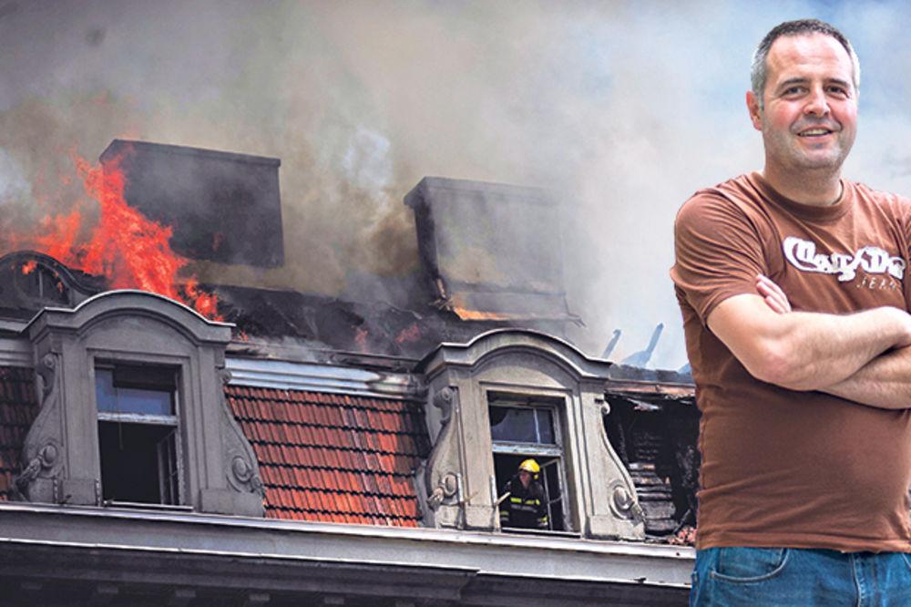 POŽAR U CENTRU BEOGRADA Vatrogasac: Našli smo se usred buktinje