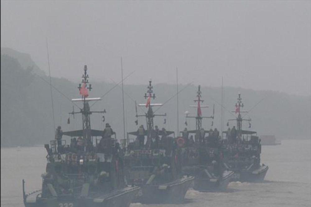 PLAVI UDAR: Rečna flotila Vojske Srbije vežbala na Tisi
