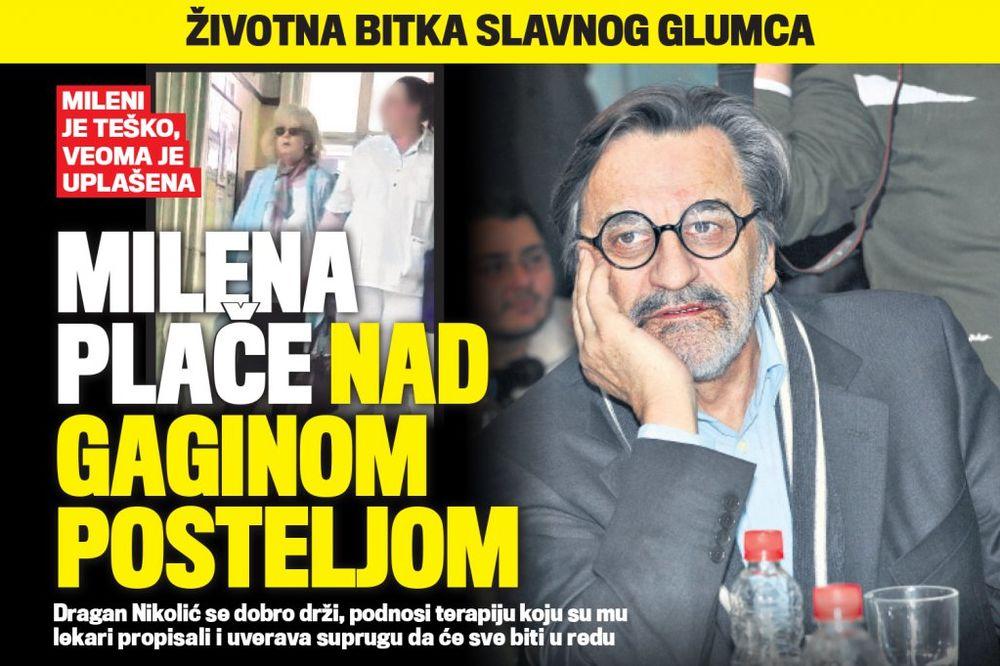 ČITAJTE U KURIRU ŽIVOTNA BITKA SLAVNOG GLUMCA: Milena plače nad Gaginom posteljom!