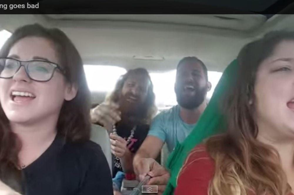 (VIDEO) UPOZORENJE: Pevali su i snimali se u kolima, a onda je usledio pakao