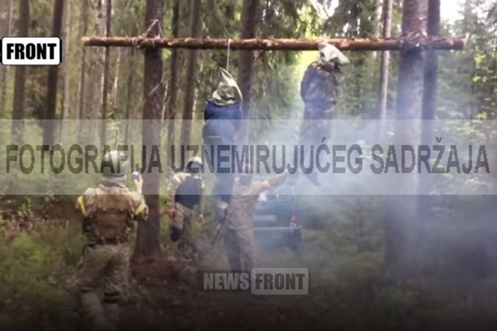 (UZNEMIRUJUĆI VIDEO) OBESILI TRUDNICU: Zverski ubijen bračni par u Ukrajini