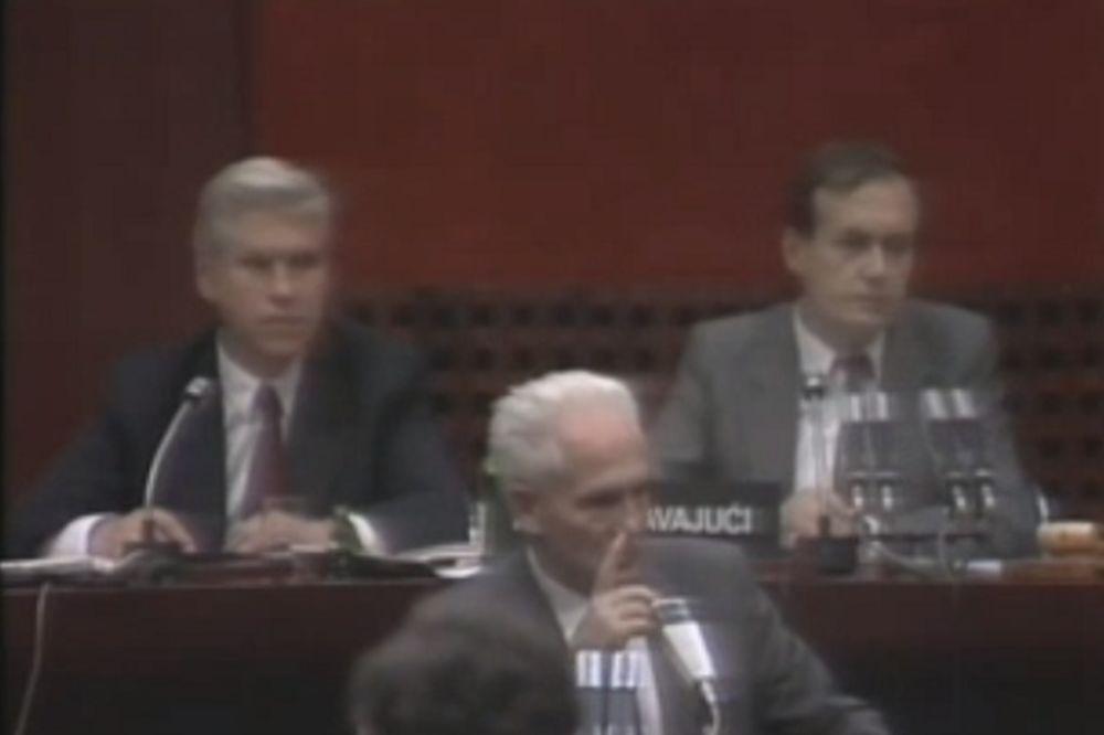 (VIDEO) SFRJ VREMEPLOV: Pogledajte kako je Slovenac Hafner pretio Slobodanu Miloševiću