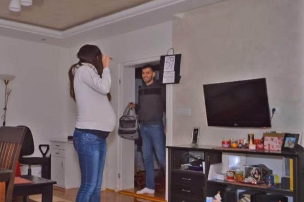 (VIDEO) SVAKA ČAST: Bračni par iz Niša predstavio svetu neverovatan snimak iščekivanja svoje ćerke