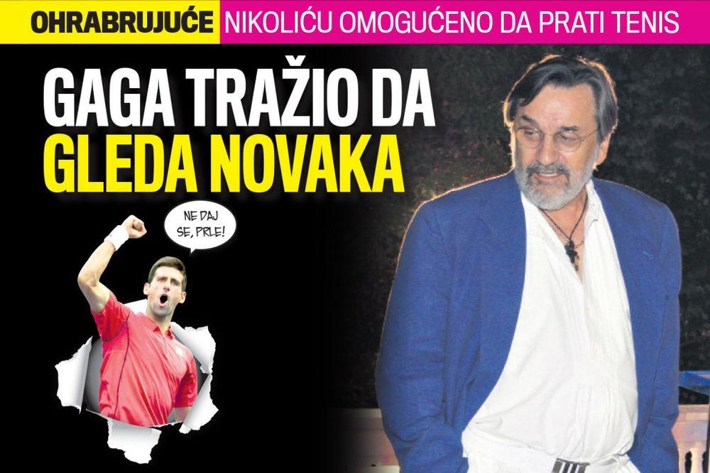 ČITAJTE U KURIRU BOLNIČKA ŽELJA DRAGANA NIKOLIĆA: Dajte mi da gledam Đokovića!