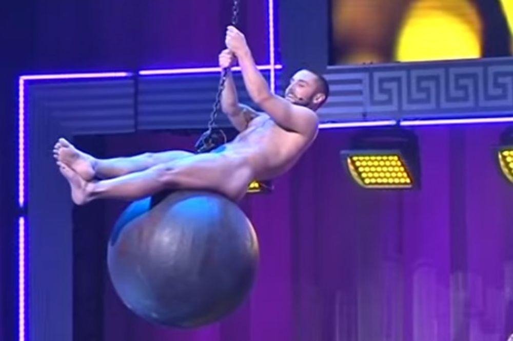 (VIDEO) Pogledajte pobednika Evrosonga kako potpuno go jaše kuglu!