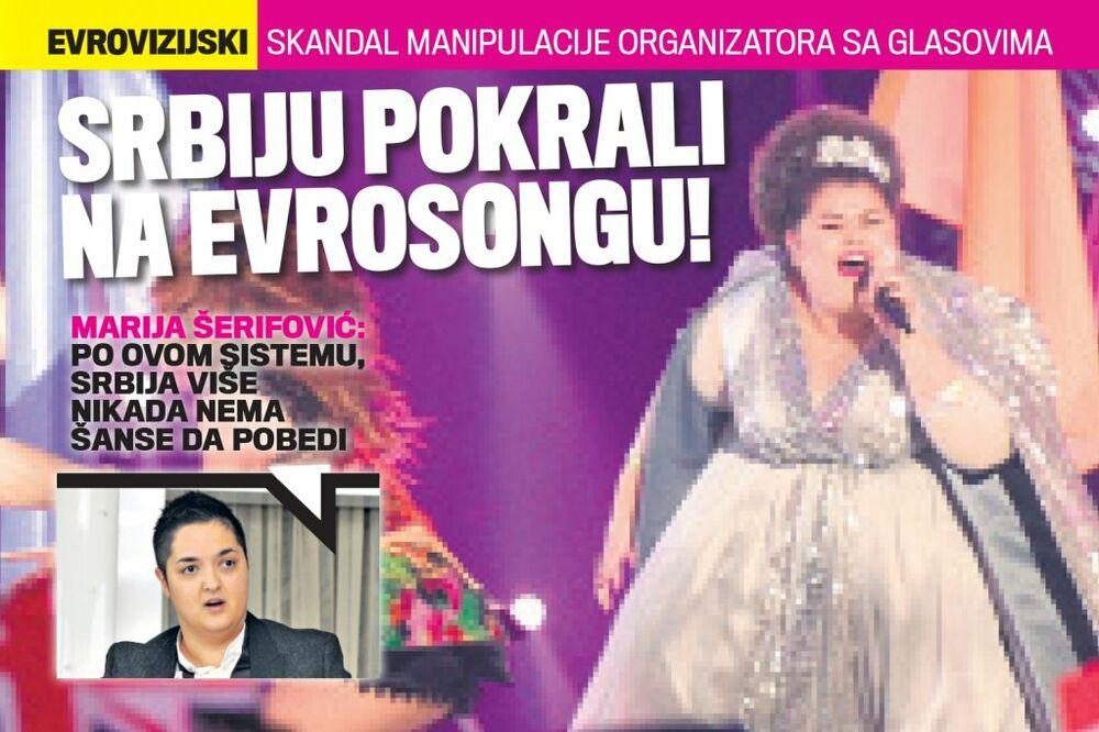 ČITAJTE U KURIRU, KAKO NAS KRADU NA EVROVOZIJI: Marija Šerifović o sistemu glasanja!