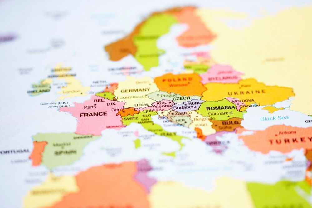 evropa, mapa foto profimedia