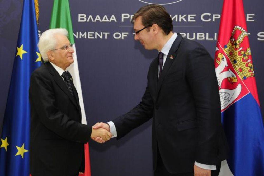 VUČIĆ SA PREDSEDNIKOM ITALIJE: Premijer se zahvalio Matareli na podršci