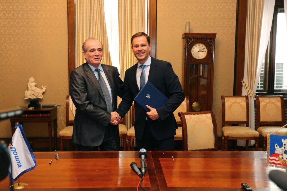 SARADNJA BEOGRADA I POŠTE: Mali i Krkobabić potpisali protokol o saradnji