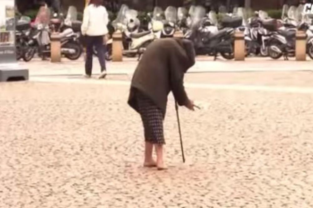 (VIDEO) STRAŠNO: Pogledajte kako je prosjakinja naglo ozdravila nakon što je završila posao