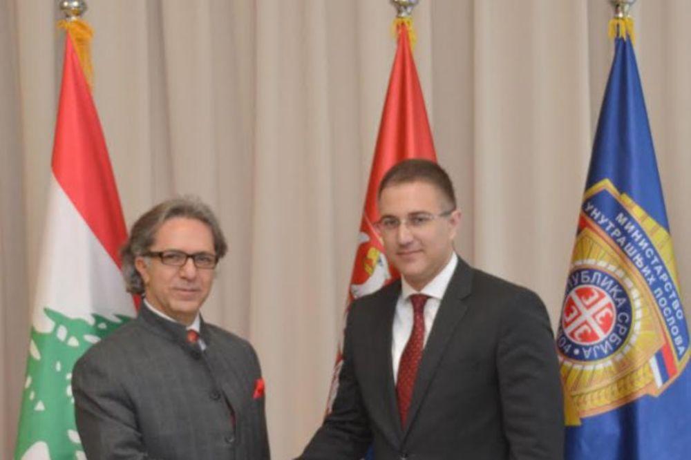 UNAPREĐENJE SARADNJE: Stefanović razgovarao sa ambasadorom Libana