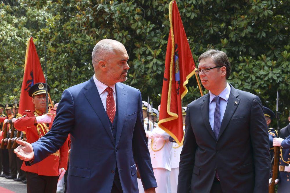 O DRONU Vučić: Ne možete se šaliti Velikom Albanijom! Rama: Što se vi Srbi ljutite toliko!