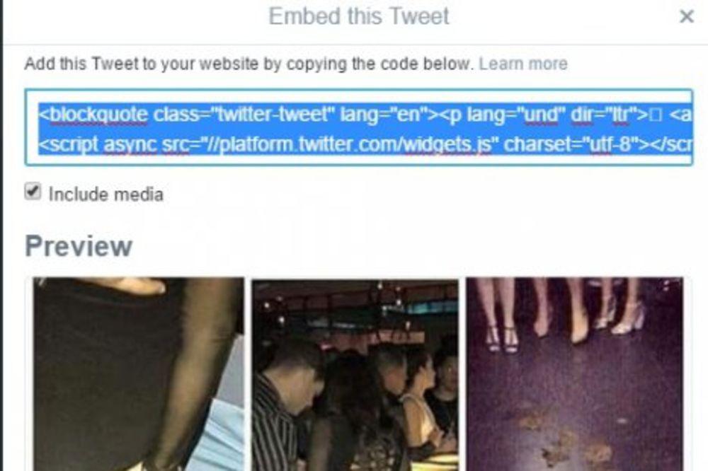 (FOTO) TREMA JE KRIVA: Starleta se uneredila usred diskoteke dok je flertovala sa muškarcem