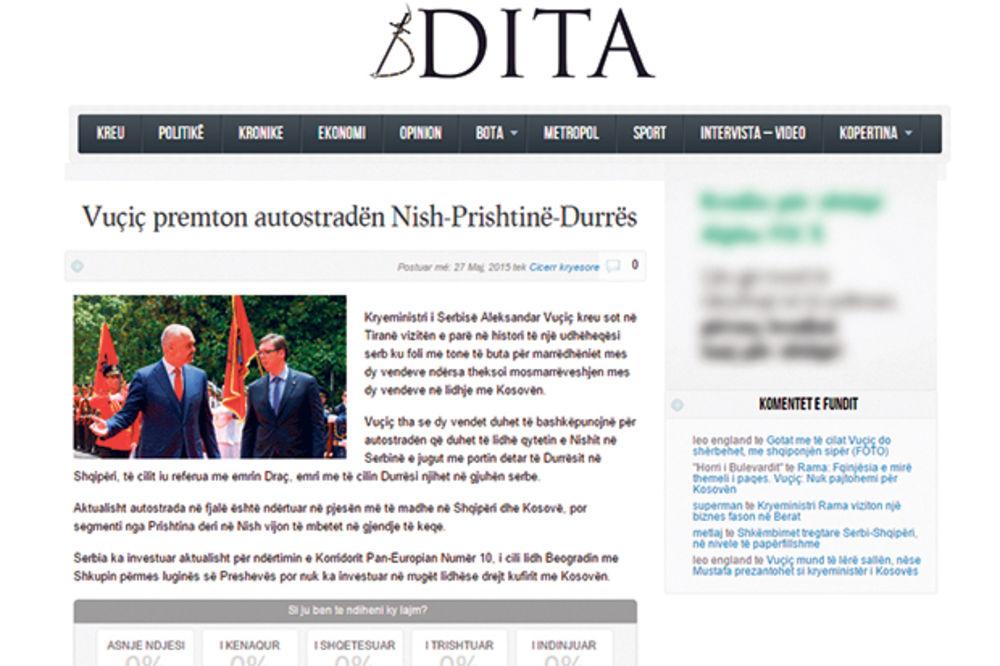 Gazeta 55: Vučić potčinio Albaniju kao Josip Broz Tito