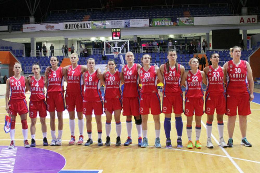 SVI U ŠUMICE: Košarkašice Srbije u petak igraju protiv Kine