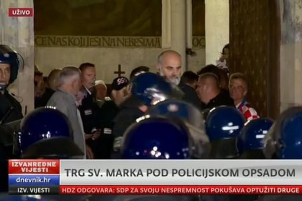 UŽIVO USIJANA ATMOSFERA U ZAGREBU: Policija rasterala veterane, oni pobegli u crkvu