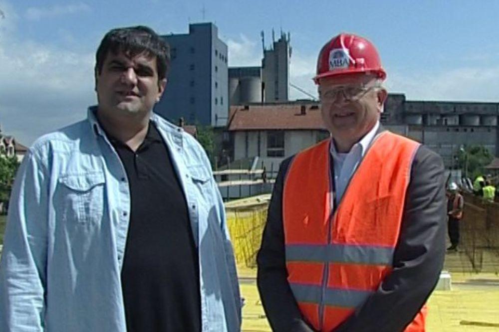 Saša Mirković: Zadovoljan sam dinamikom radova na Kotlujevačkom mostu