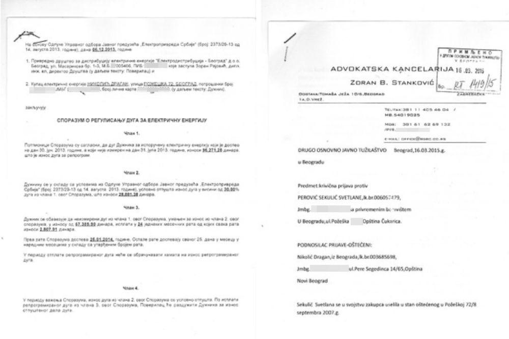 Crno na belo... Nikolići podneli tužbu protiv podstanarke