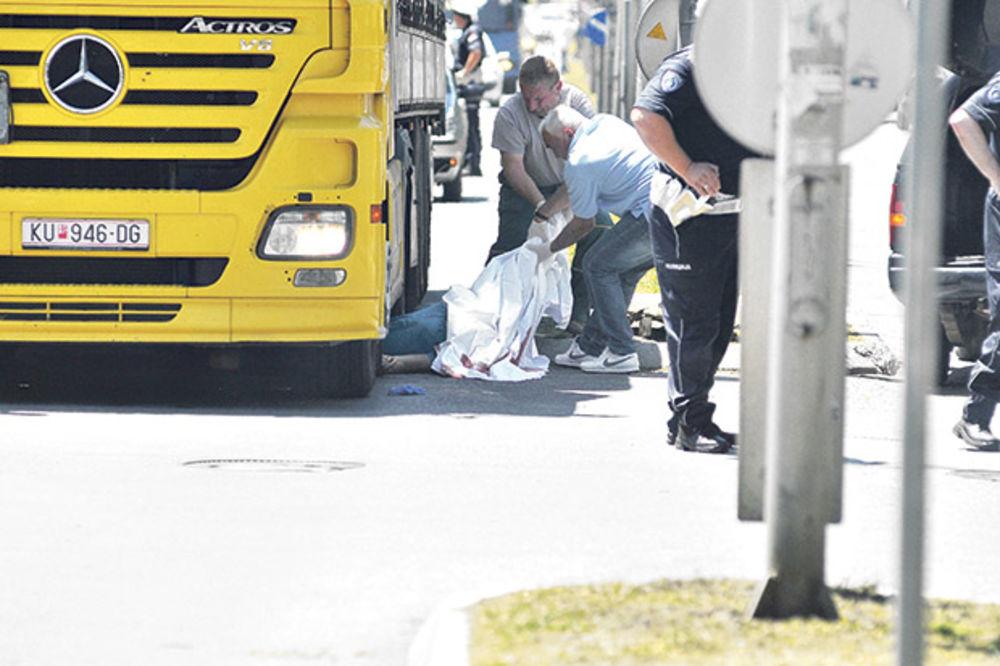 STRAVIČNO: Zgazio ženu kamionom, izašao i peške pobegao!