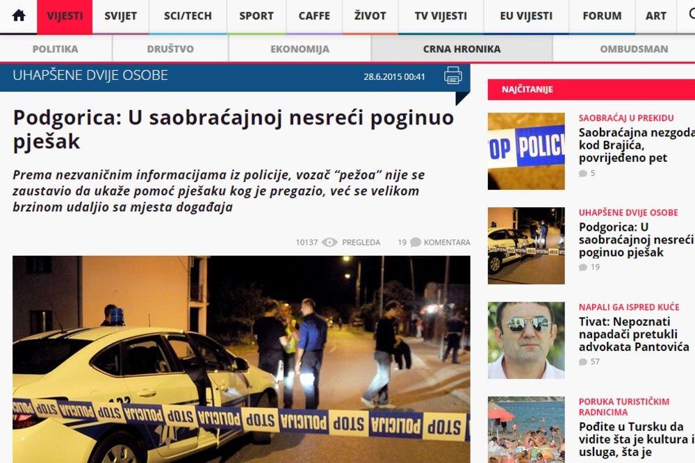 PREGAZILI GA KOLIMA, PA POBEGLI: U Podgorici zgažen Srbin sa Kosova!