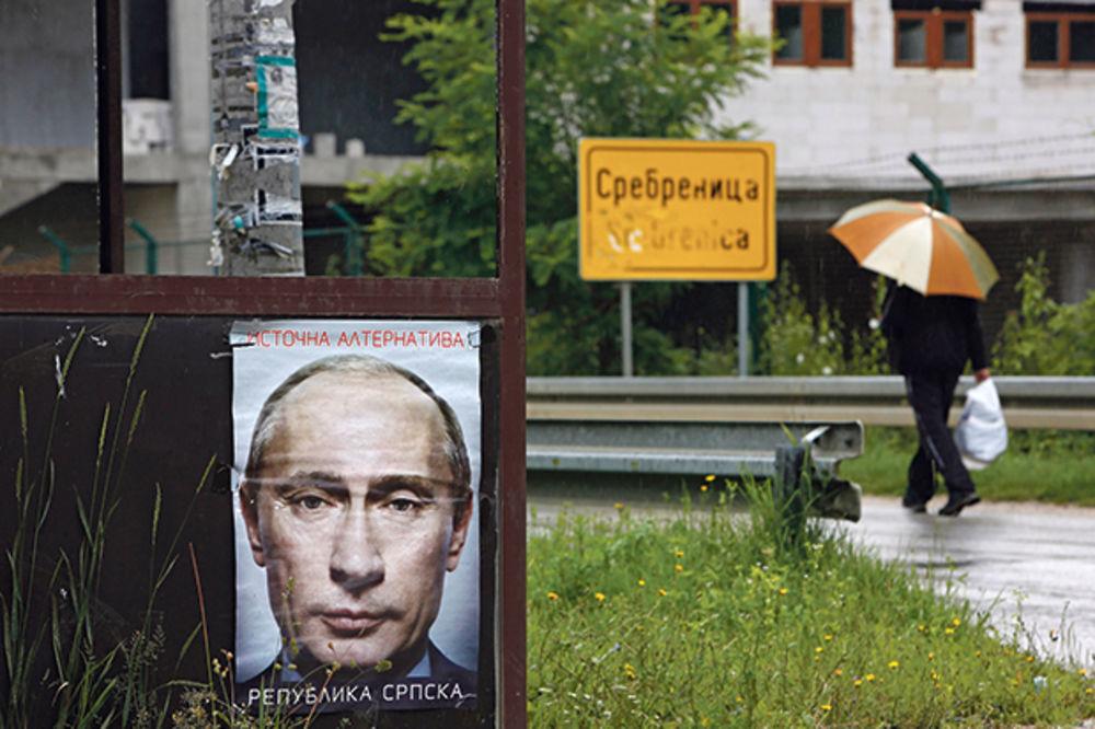 Lik Vladimira Putina osvanuo u Srebrenici