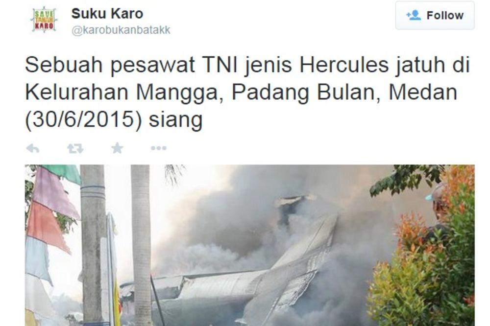 (VIDEO) DRAMA U INDONEZIJI: Najmanje 30 ljudi poginulo u padu vojnog aviona na stambene zgrade