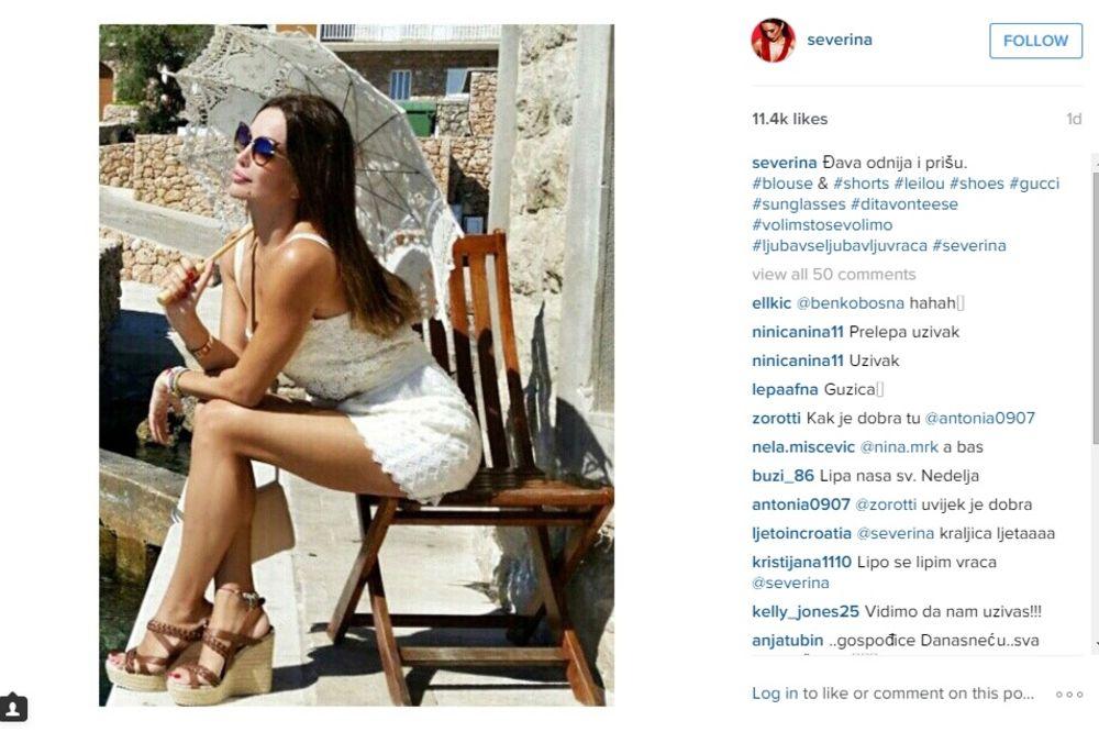 (FOTO) ODRŽALA LEKCIJU: Severina objavila fotku u bikiniju i zapalila interet!