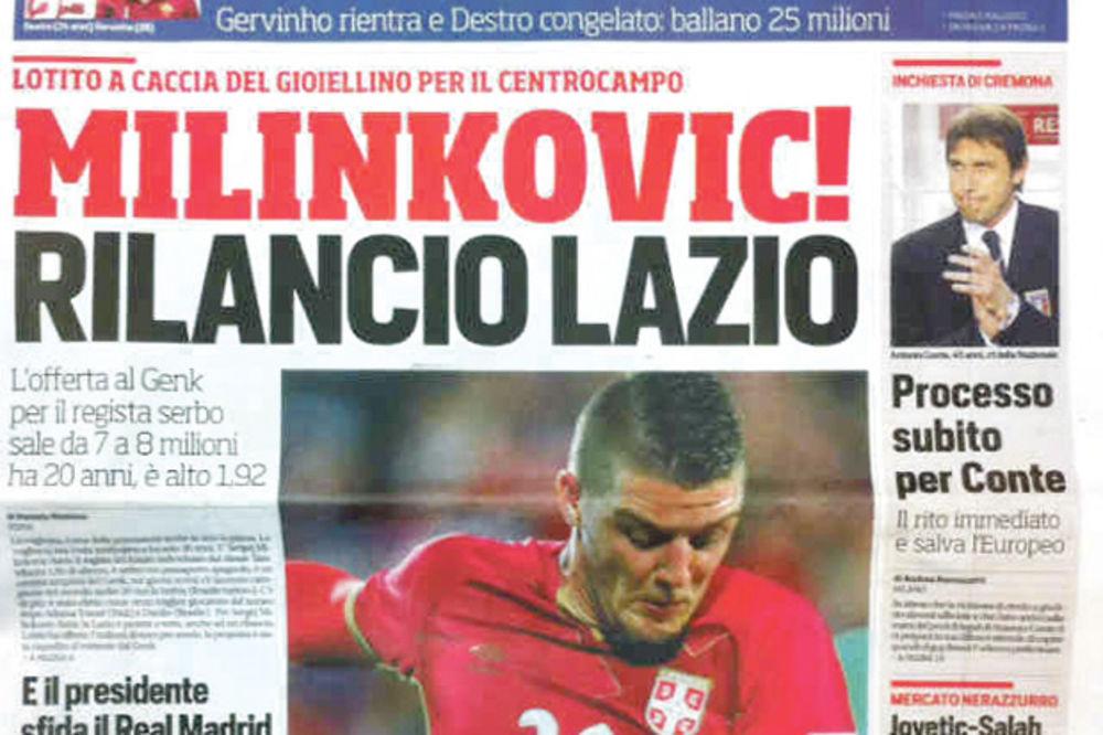 ZVEZDA: Lacio za Sergeja Milinkovića-Savića daje osam miliona evra