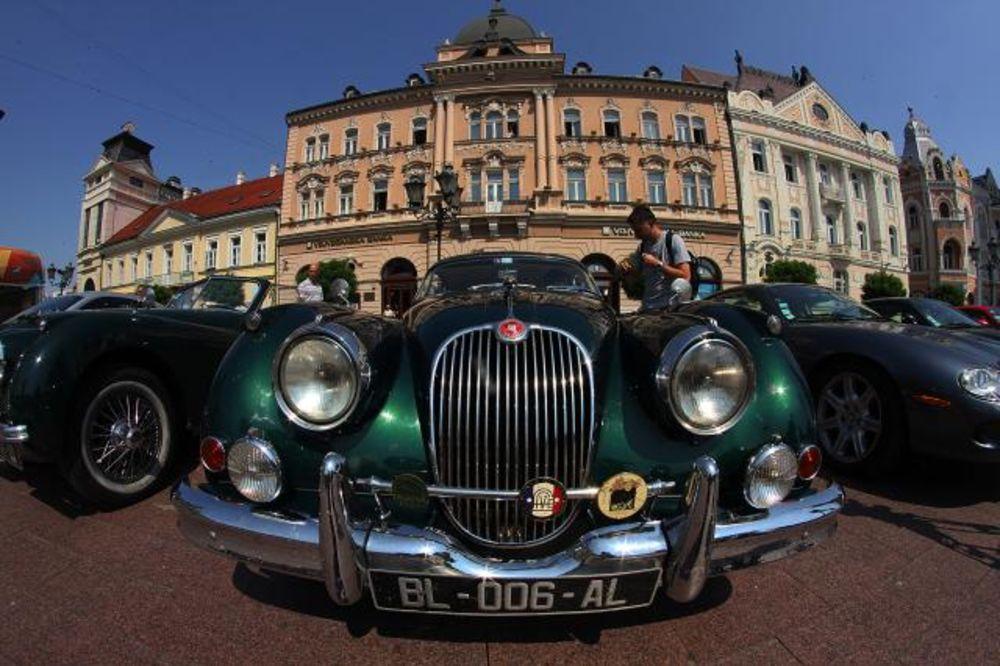 (FOTO) OLDTAJMERI UKRASILI CENTAR GRADA: Svetska izložba jaguara stigla u Novi Sad