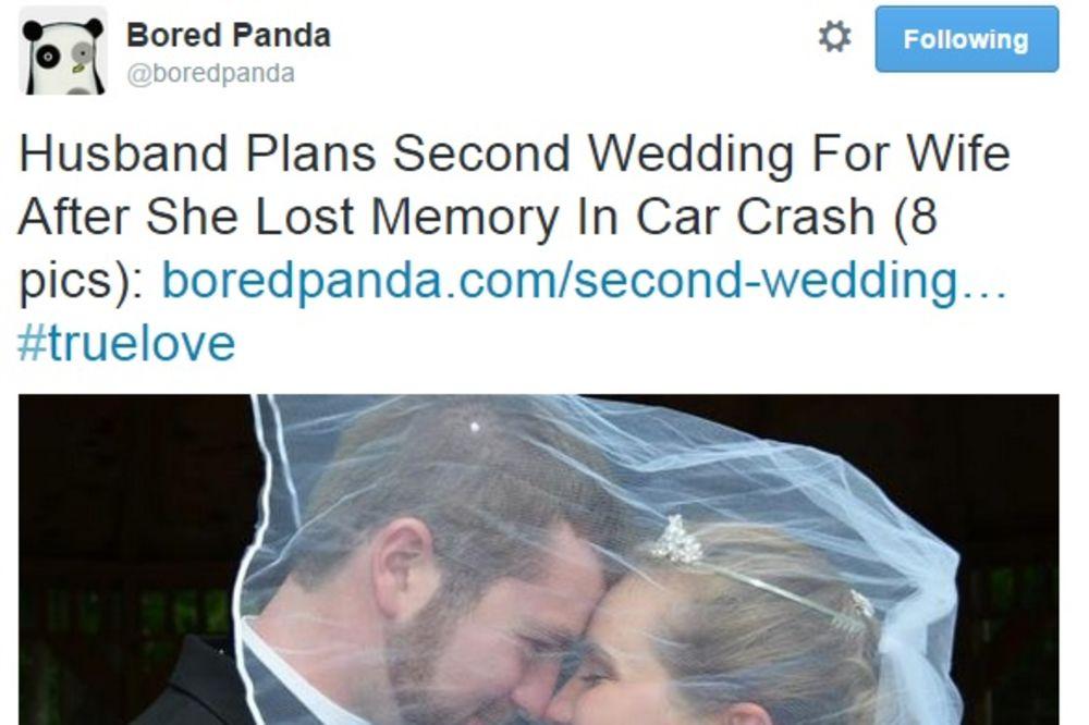 LJUBAVNA PRIČA: Žena se nije sećala svog venčanja, a muž ju je obradovao na divan način